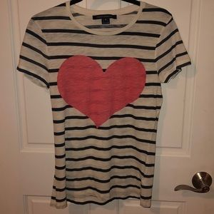 French Connection Heart Struck Stripe Tee